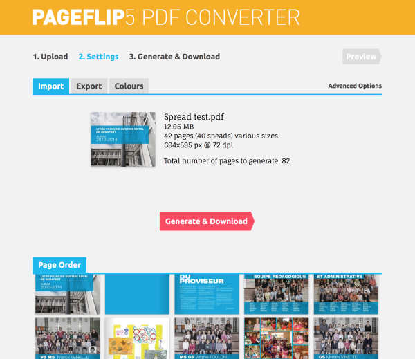 PDF to Pageflip 5 converter 2